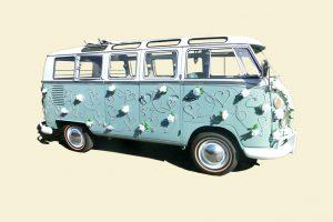 VW Bus 'Bulli' T1 Samba Deluxe als Hochzeitsauto / T1-Berlin.de