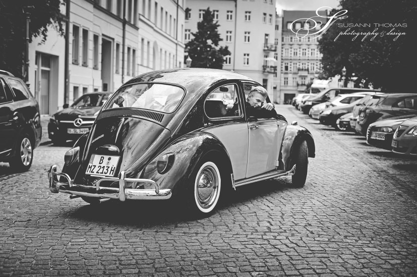 Käfer 1300 als Hochzeitsauto / T1-Berlin.de