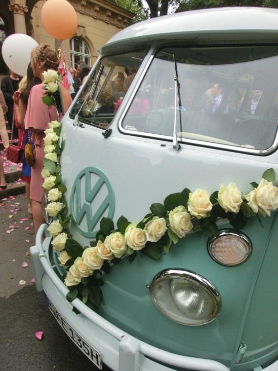 Hochzeitsdekorationen Und Extras Fur Unsere Oldtimer Vw T1 Samba