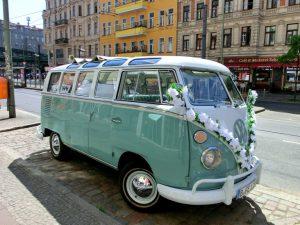 VW Bus-Bulli T1 Samba Deluxe als Hochzeitsauto / T1-Berlin.de